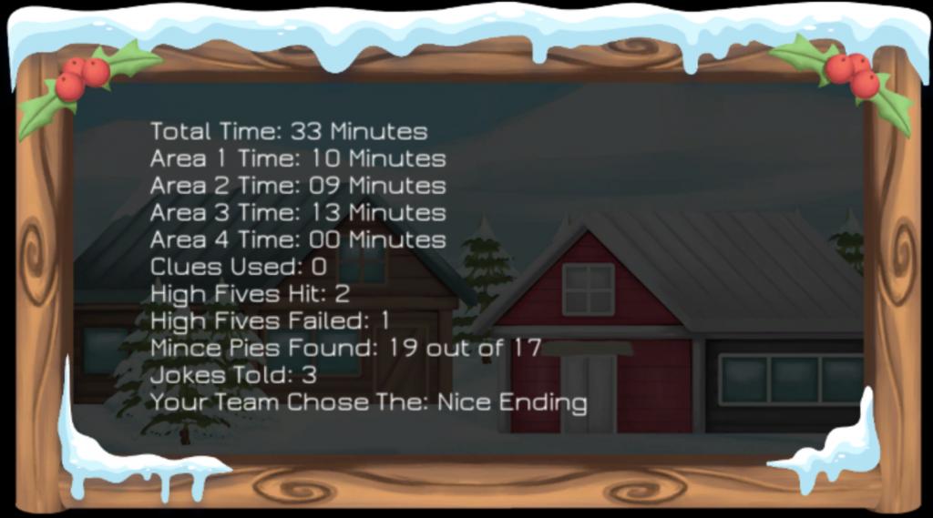 BRUCE saves Christmas Final Screen